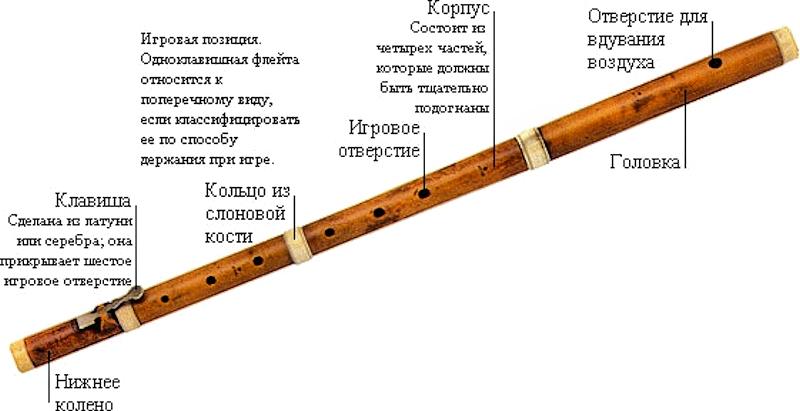 Флейта из бамбука своими руками чертежи 54