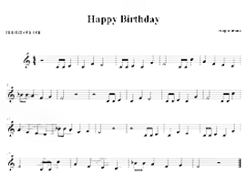 Песенка «Happy birthday to you»