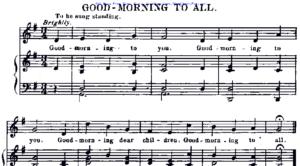 Песенка Good morning to all