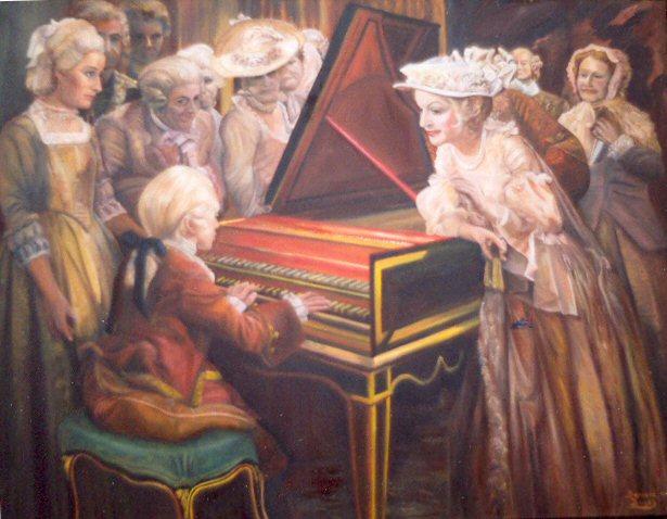 Детские годы Моцарта
