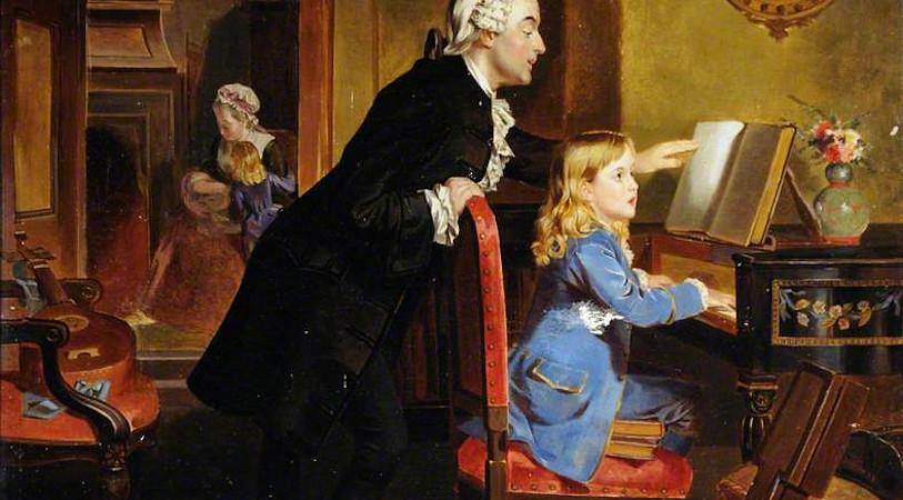 Занятия музыкой - Моцарт