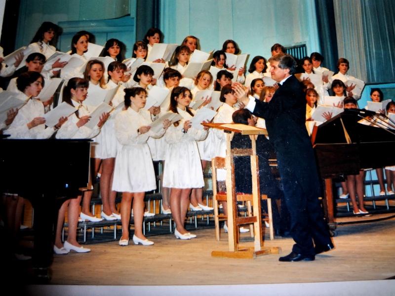 """Образцовый хор """"Журавинка"""" и его первый руководитель А.П.Евсюков"""