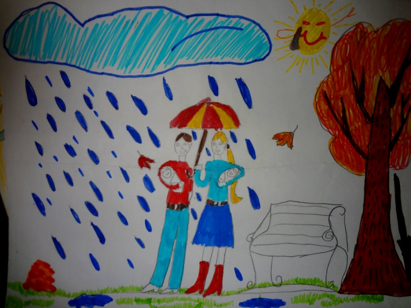Осенний дождик - Ангелина Б. (8 лет)