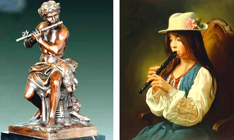 Флейта продольная и поперечная