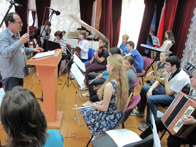 Репетиция совместного концерта