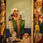 John Bellany (1942-) Self Portrait with Accordion