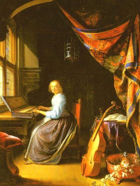 Д.Герард - Дама за клавикордом