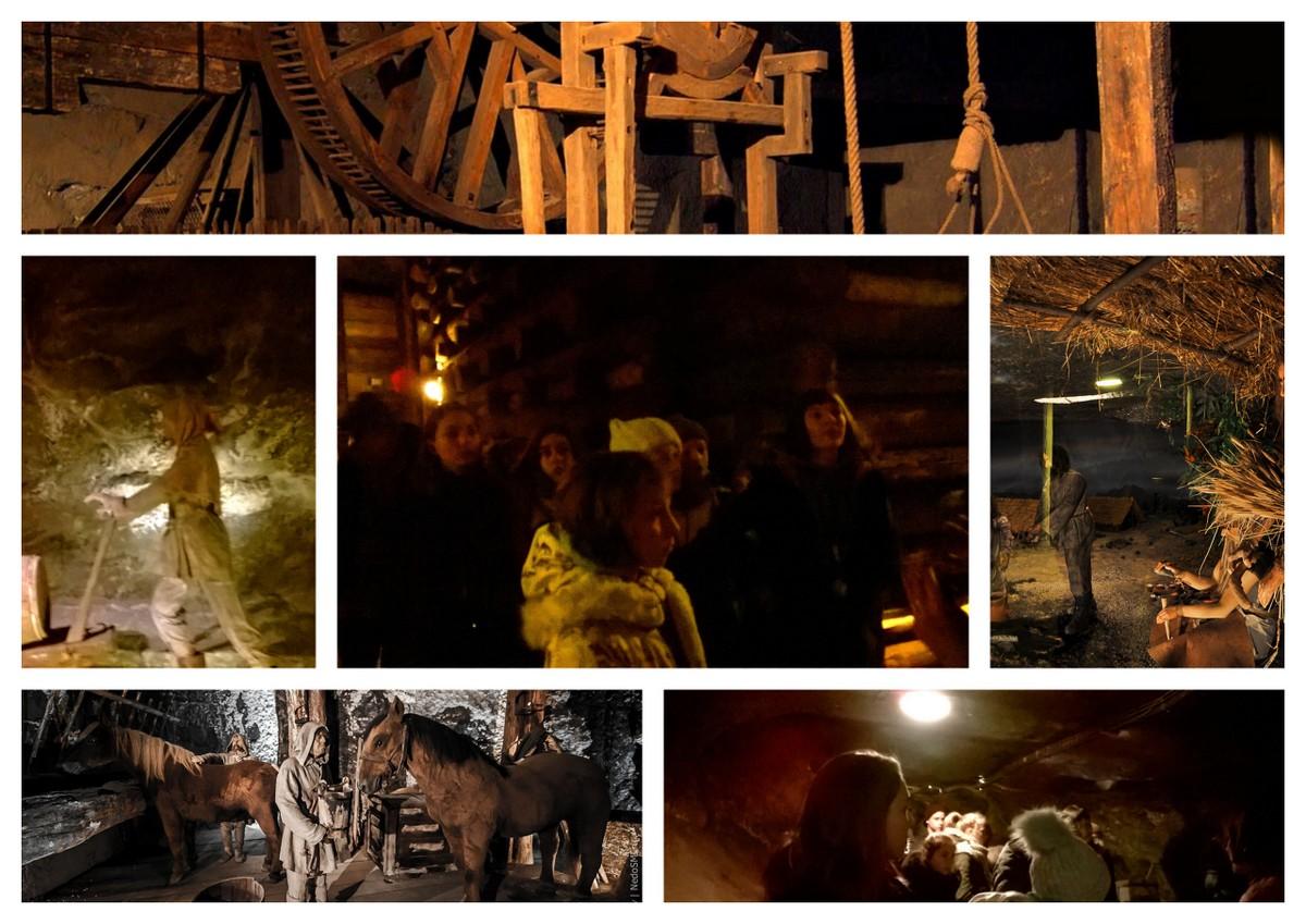 Коллаж о работе шахтеров