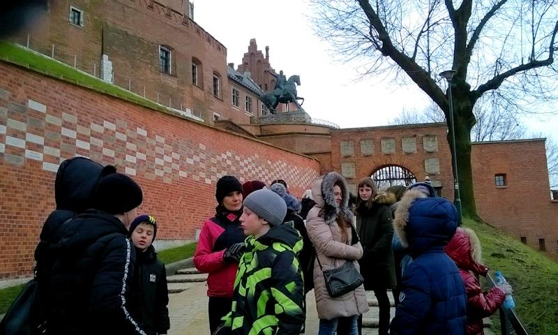 Наши гимназисты в Вавельском замке