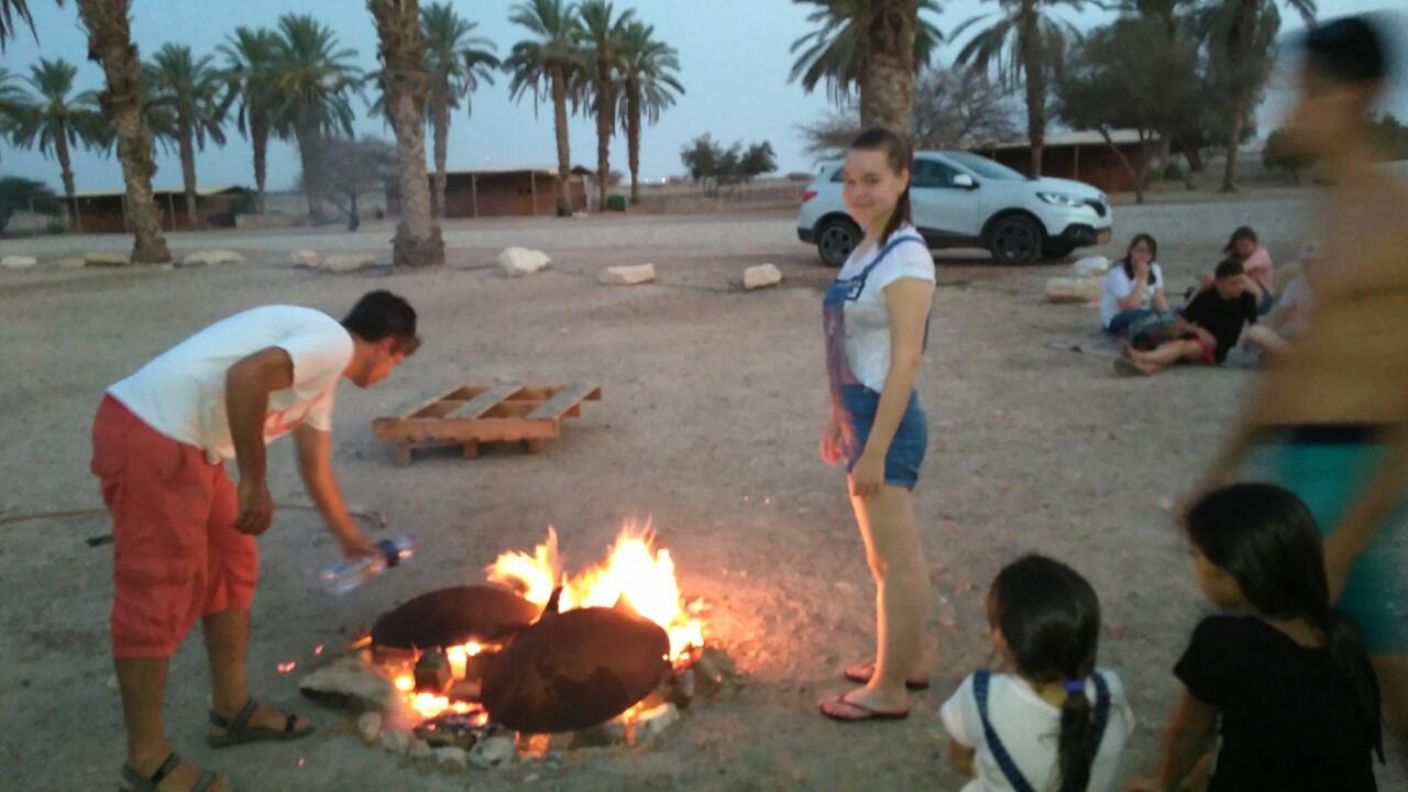 Белорусы в пустыне Арава
