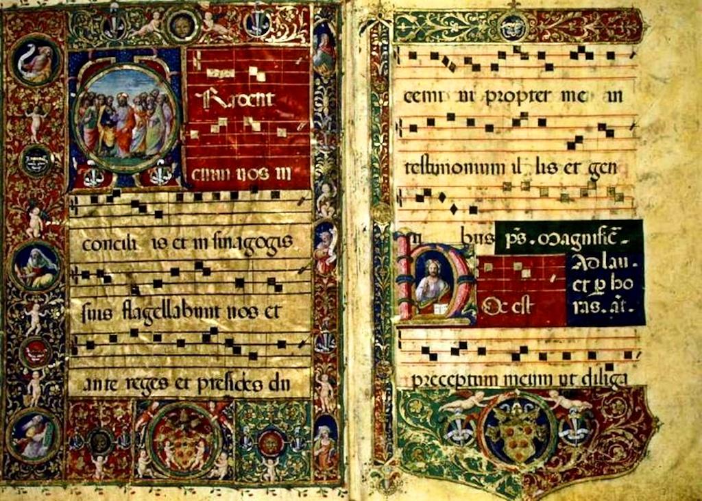 григорианский хорал. пятилинейная нотация