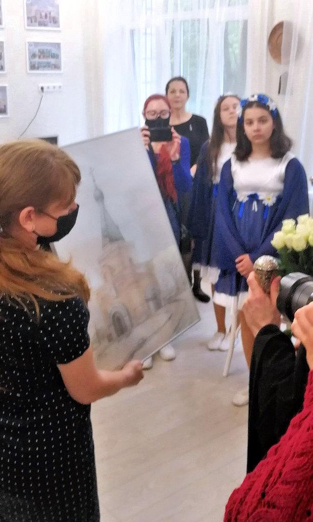 Храм - картина, выполненная учащимися