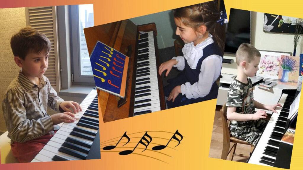 Ребенок начинает заниматься музыкой